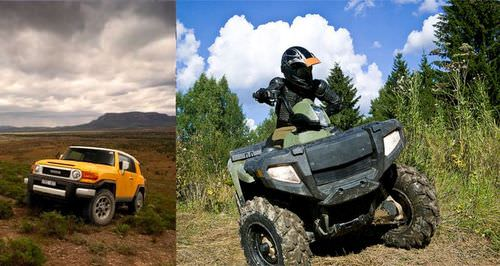 Off-road vehicles can destroy plants and leave the ground bare, which increases erosion