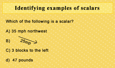 Classification of Vectors and Scalars - Example 1