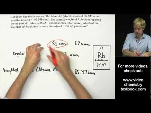Calculating atomic mass ck 12 foundation how to calculate atomic mass practice problems urtaz Image collections