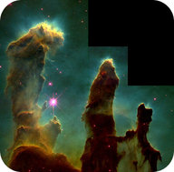The Pillars of Creation is an active region of the Eagle Nebula where new stars are being formed