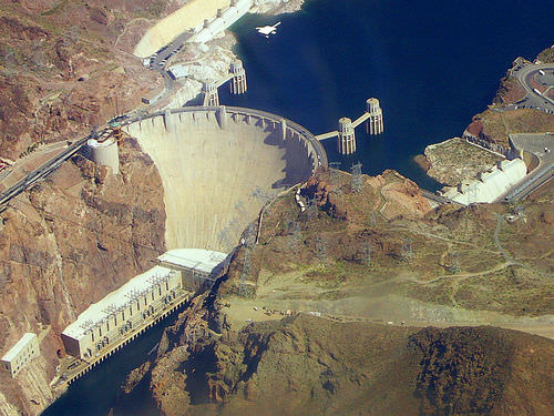 Hoover Dam created Lake Mead along the Colorado River