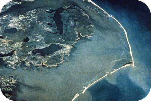 Picture of a barrier island