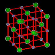 Lattice structure for sodium chloride