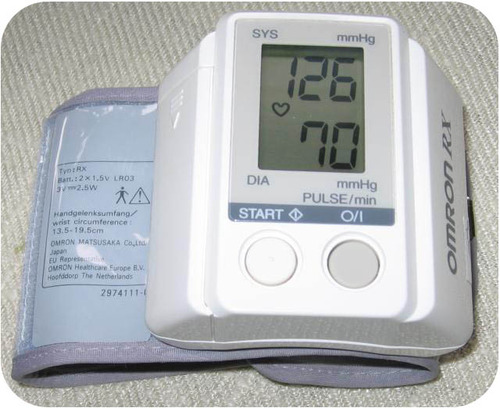 A sphygmomanometer is an inflatable cuff and pressure meter used to measure blood pressure