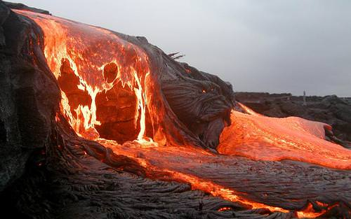 Lava is melted rock that erupts onto Earth's surface
