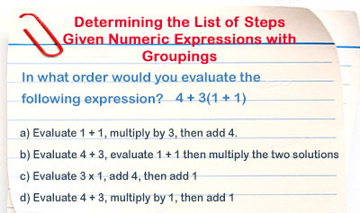Evaluating Numeric Expressions with Groupings - Example 2