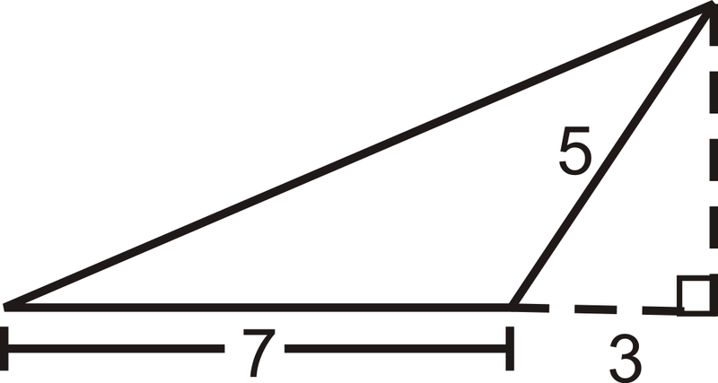Area and perimeter of triangles read geometry ck 12 foundation to find the area we need to find the height of the triangle we are given the two sides of the small right triangle where the hypotenuse ccuart Choice Image