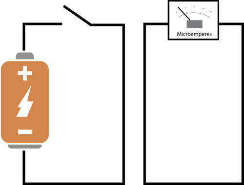 A circuit with rapidly changing voltage will generate small amounts of current in a nearby circuit