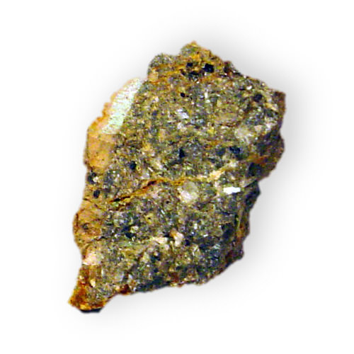 Photograph of radioactive uranium ore