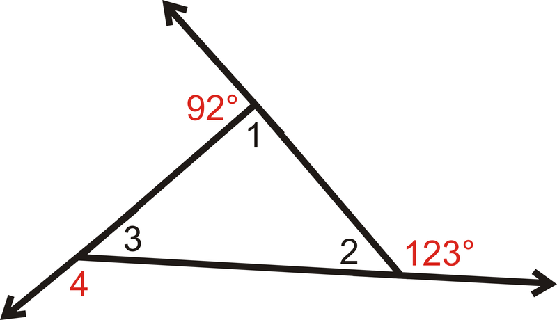 Exterior Angles Theorems ( Read ) | Geometry | CK-12 Foundation