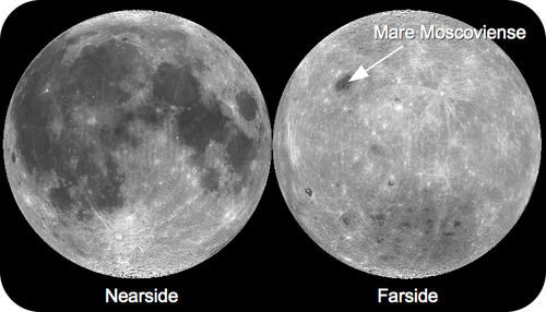 The near and far side of the Moon