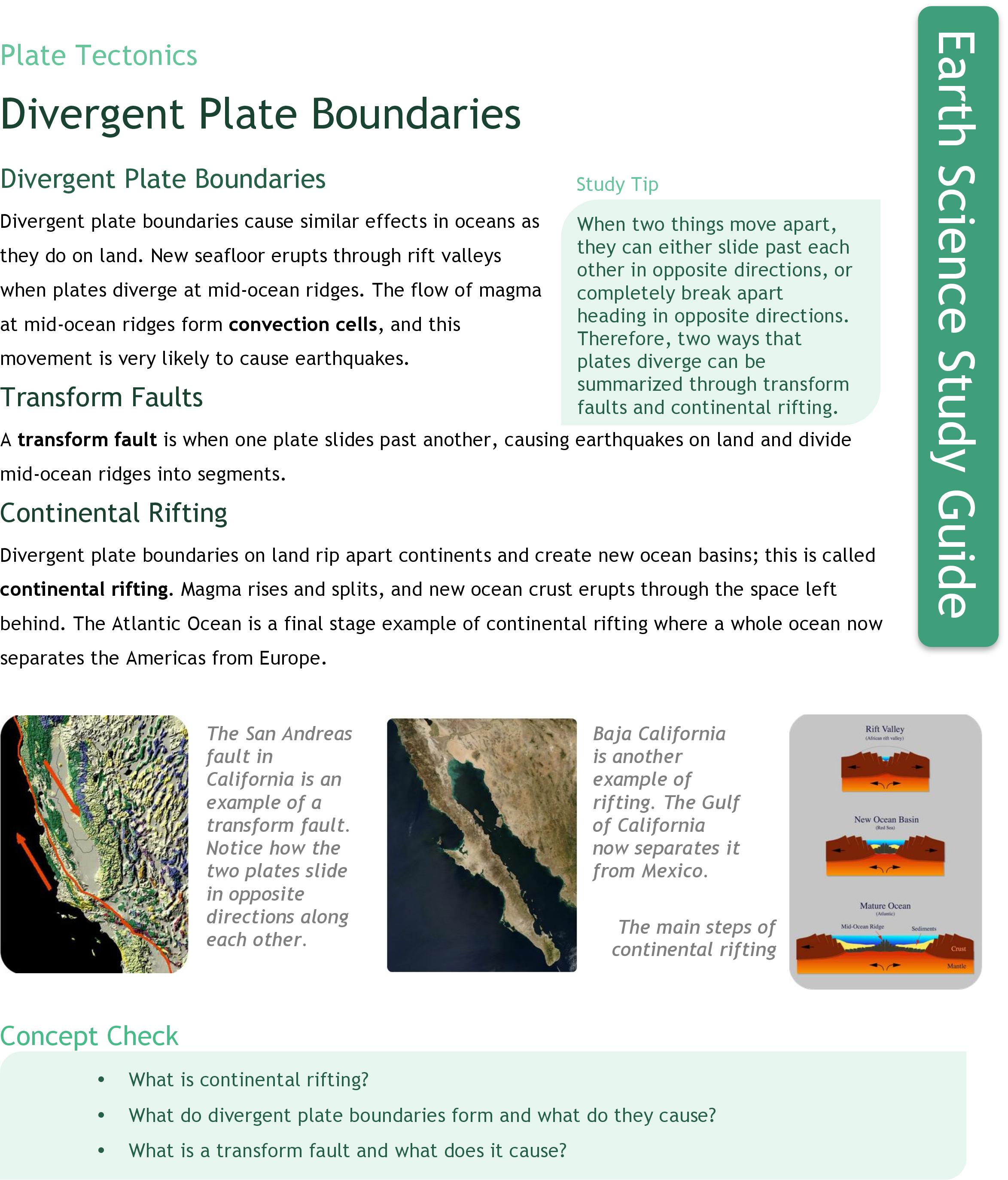 Divergent Plate Boundaries Ck 12 Foundation