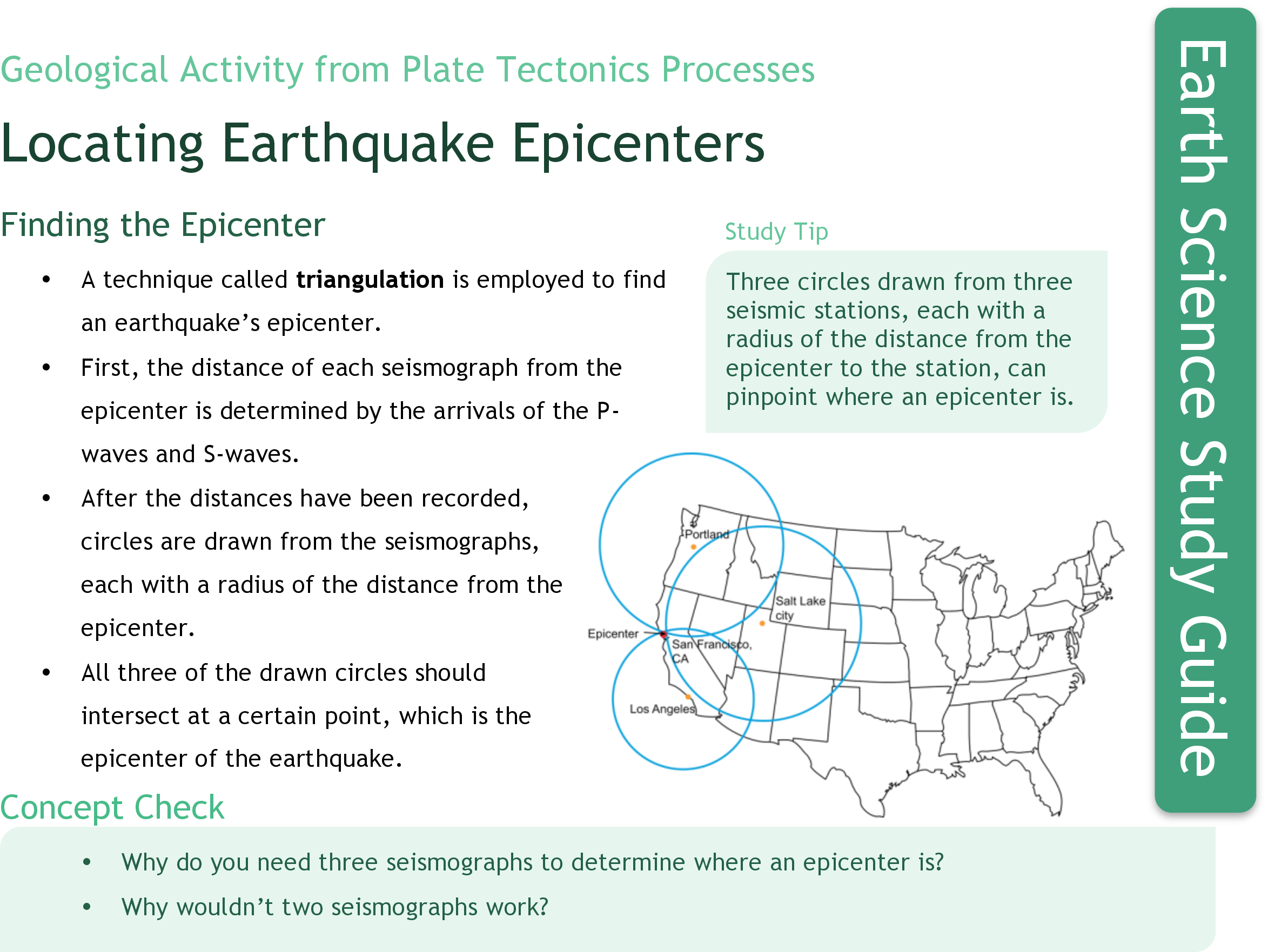worksheet Find The Epicenter Worksheet locating earthquake epicenters ck 12 foundation study guide