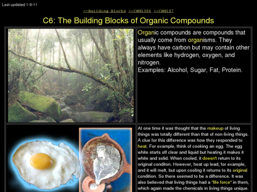 The Building Blocks of Organic Compounds