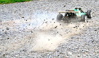 Speeding Up by Falling Down