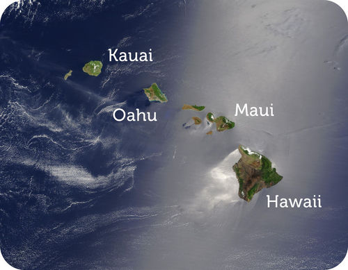 The Hawaiian Islands from space