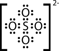 Structure of the sulfate ion