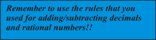 Single Variable Subtraction Equations