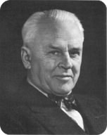 Portrait of Robert Millikan, who came up with the oil drop experiment