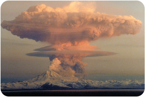 Eruption of Mt. Redoubt in Alaska in 1989