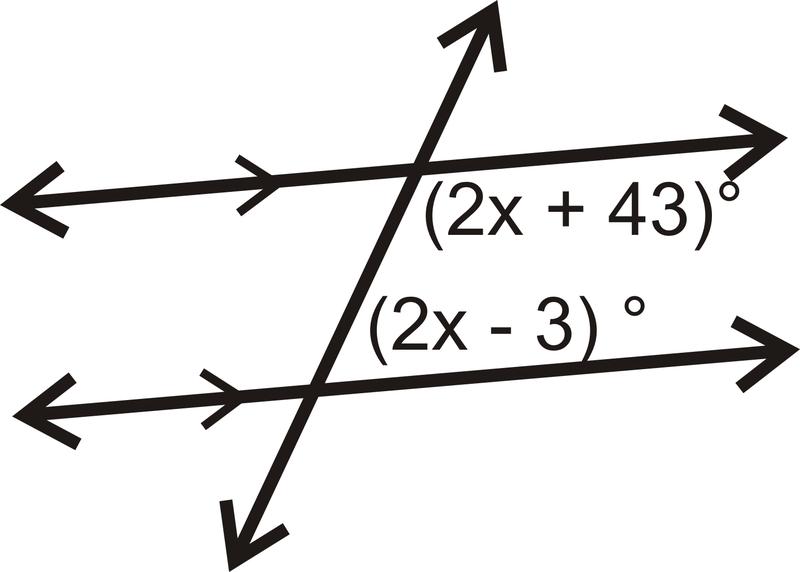 Properties of Parallel Lines – Properties of Parallel Lines Worksheet