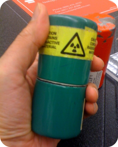 Lead containers used to store radioactive isotopes are called pigs