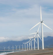 Windmills capturing energy, an example of applied science