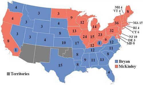1896 Electoral College Vote