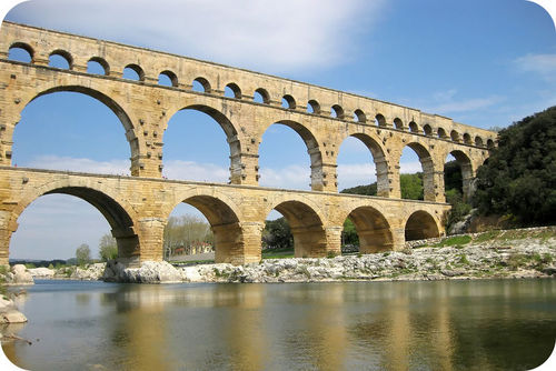 Pont du Gard is an aqueduct in France