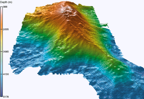 Map of the Loihi seamount