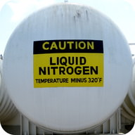 Liquid nitrogen is at such low temperatures that it is no longer a gas