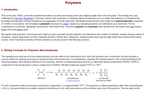 Common Addition Polymers