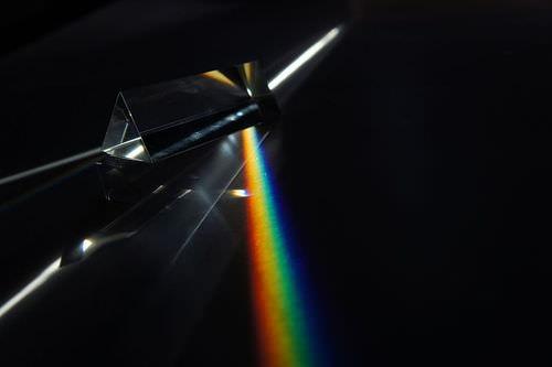 A prism splits white light