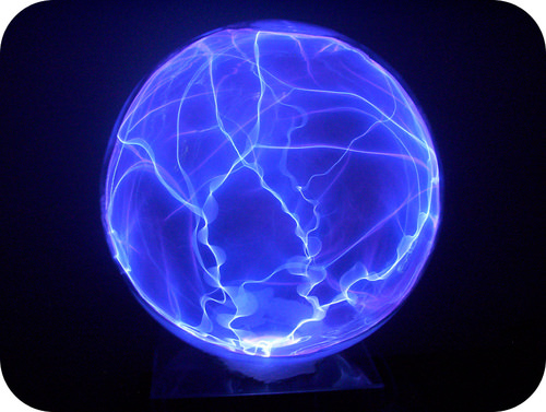 Plasma globes contain strong electrical fields