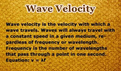 Wave Velocity - Overview