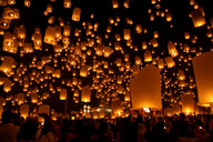 This lantern festival uses hundreds of candles for light