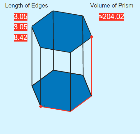 Volume of a Hexagonal Prism