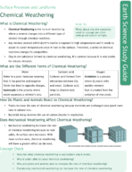 Chemical Weathering Study Guide