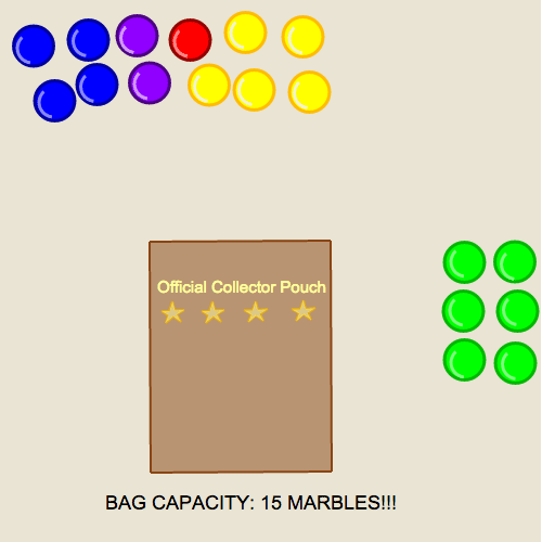 Mental Math for Addition and Subtraction Equations: Marble Bag Collector