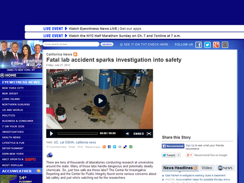 Fatal Lab Accident Sparks Investigation Into Safety