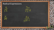 Simplification of Radical Expressions