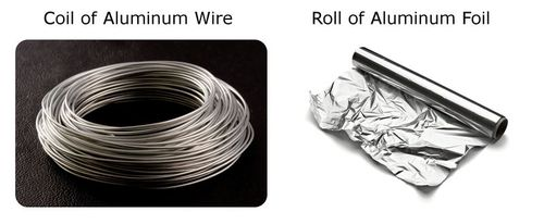 Both of these are aluminum metals and exhibit ductile and shiny properties
