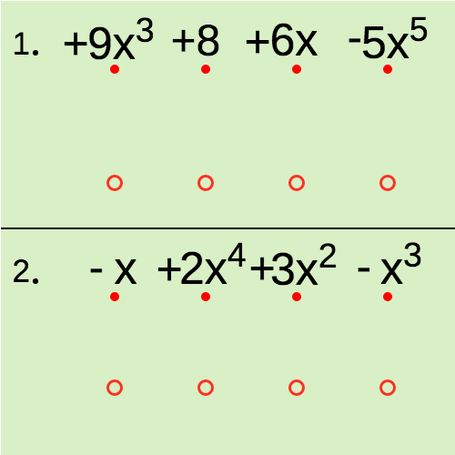 Polynomials in Standard Form