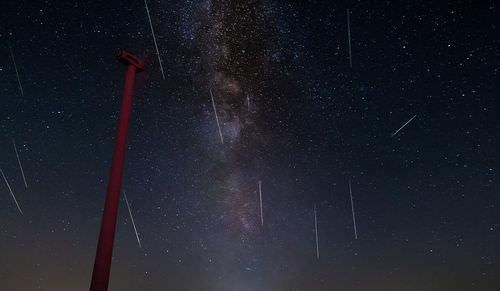 The Perseid meteor shower