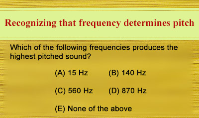 Characteristics of Sound Waves - Example 1