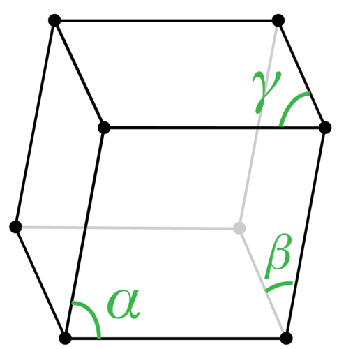Structure of a rhombohedral crystal