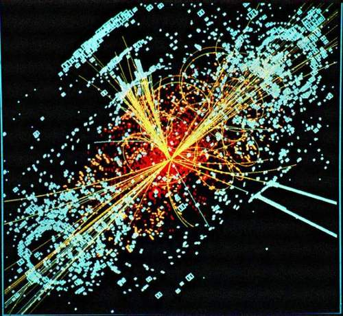 Simulation of a Higgs Boson Event in CMS Detector
