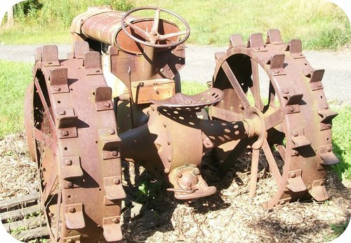 This tractor has been corroded