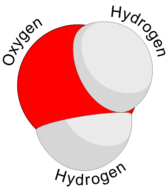 Diagram of a water molecule