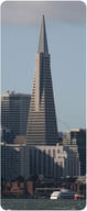 The Transamerica Pyramid is more stable than a standard skyscraper